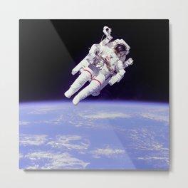Astronaut on a Spacewalk Metal Print