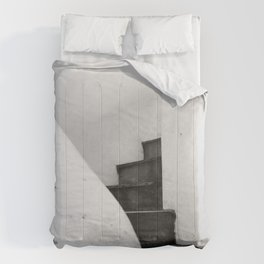 Black and White Stairs Comforters