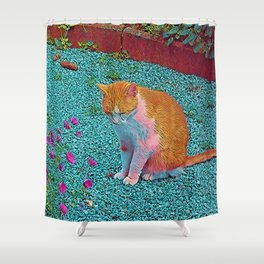 Popular Animals - Cat Shower Curtain