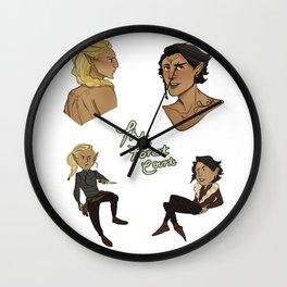 Forest Court sticker set Wall Clock