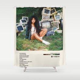 Ctrl Album Poster ,Sza Poster , Minimalist Music -  Shower Curtain