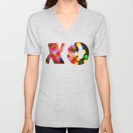 X & O Hugs & Kisses Unisex V-Neck