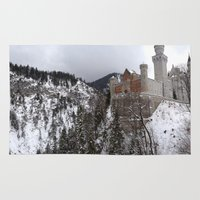 castle in the sky Area & Throw Rugs featuring Castle in the Sky by LonelyHeartsClub