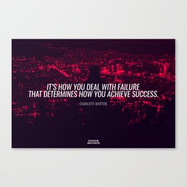 Failure & Success- Charlotte Whitton Inspirational Quote Art Work Canvas Print