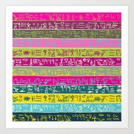 Egyptian hieroglyphs No2 Art Print