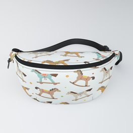Wooden horses pattern Fanny Pack