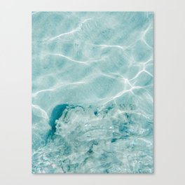 Clear blue water | Colorful ocean photography print | Turquoise sea Canvas Print
