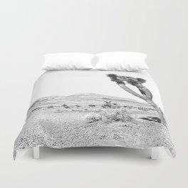 Vintage Desert Scape B&W // Cactus Nature Summer Sun Landscape Black and White Photography Duvet Cover