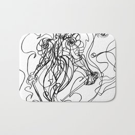 Walking man Bath Mat