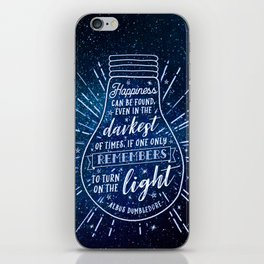 Happiness can be found iPhone Skin