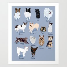 14 Dogs & Kitties Art Print