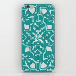 Turquoise Batik iPhone Skin