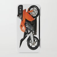motorbike iPhone & iPod Cases featuring KTM RC8 motorbike by cjsphotos