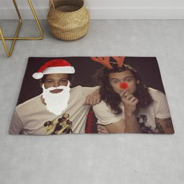 Noel and Rudolph - Larry Stylinson Christmas Rug