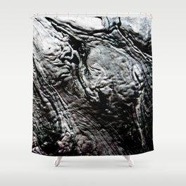 Black Lava Shower Curtain