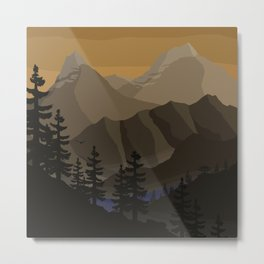 Mountains of the Orient Metal Print