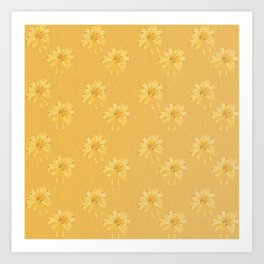 Yellow Orange Bows Art Print