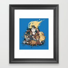 FF7 - FULL FAT 7 Framed Art Print