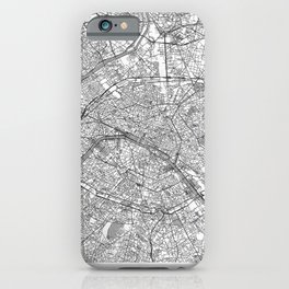 Paris Map Line iPhone Case