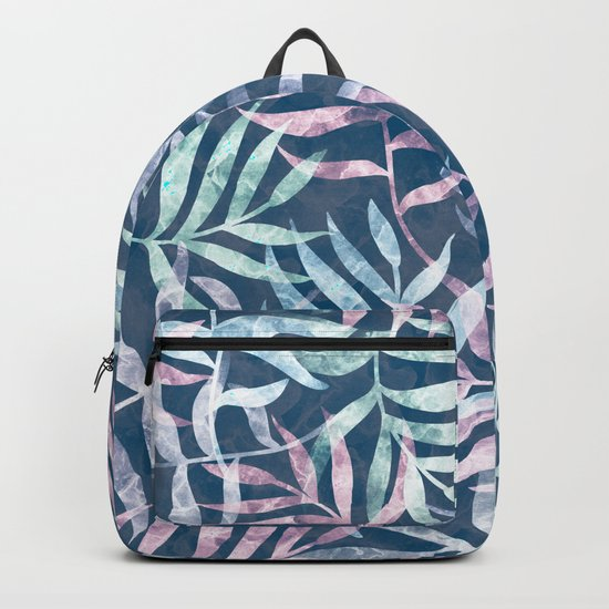 Watercolor Tropical Palm Leaves V Backpack