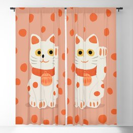 Abstraction_Lucky_Charm_Cat Blackout Curtain