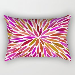Pink Watercolor Burst Rectangular Pillow