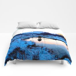 Snowy puddles Comforters