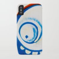 grafitti iPhone & iPod Cases featuring Grafitti Face by Leslie Philipp