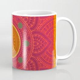 """""""Fuchsia and Gold Mandala"""" Coffee Mug"""