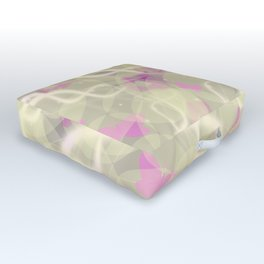 spring pattern,rose,flieder, butterfly and flower Outdoor Floor Cushion