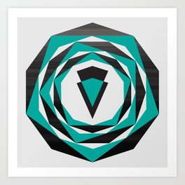 Decahedron Hexagon combined! Art Print