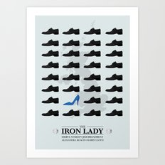 the Iron Lady - minimal poster v1 Art Print
