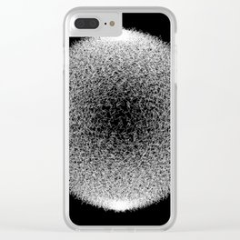 Abstract scribble circle banner. Clear iPhone Case