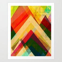 mountain print, abstract art, abstract print, giclee print, giclee art print, violet art, earth colo Art Print