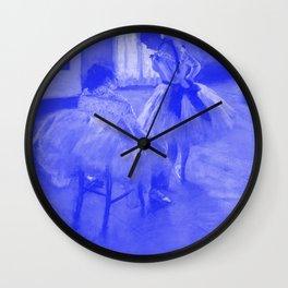 Classic Art - The Dance Lesson - Edgar Degas Wall Clock