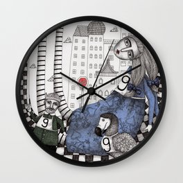 William the Conqueror and the 9 Feet Tall Caucus Race Wall Clock