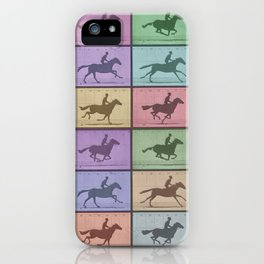 Time Lapse Motion Study Horse Color iPhone Case