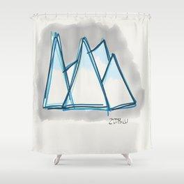 Bluey Peaks Shower Curtain