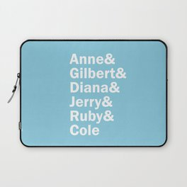 Anne with an E, Squad. (in white) Laptop Sleeve