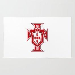 Portugal soccer logo FPF Rug