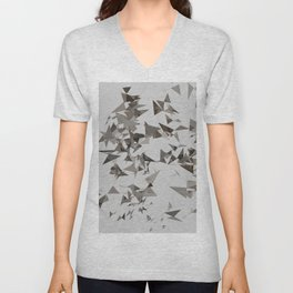 Abstract Composition 386 Unisex V-Neck