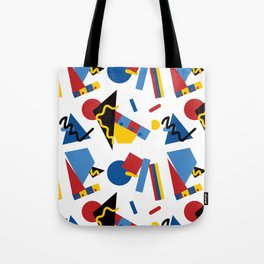 Postmodern Primary Color Party Decorations Tote Bag