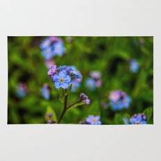 Forget-me-nots In The Rain Rug