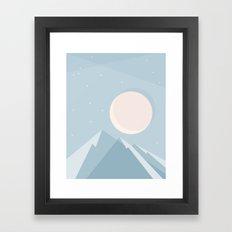 Moonlight on Blue Mountains Framed Art Print