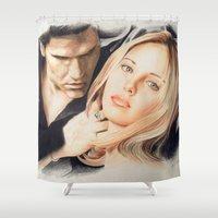 buffy Shower Curtains featuring Buffy - The Vampire Slayer by ChiaraG27