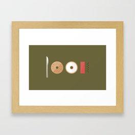 New York Normal: Bagels, Lox, & Schmear. Framed Art Print