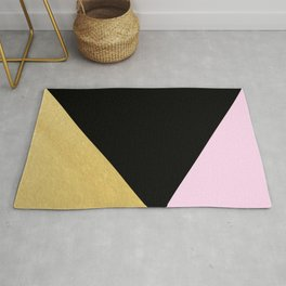 Color Block Glam Triangles Rug