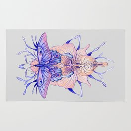 Butterfly Orchid Rug