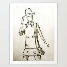 1960's Mod Fashion 2 Art Print