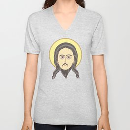 jesus icon Unisex V-Neck